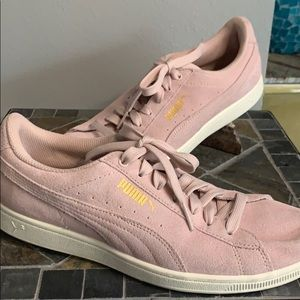 Puma Pink Suede Sneakers